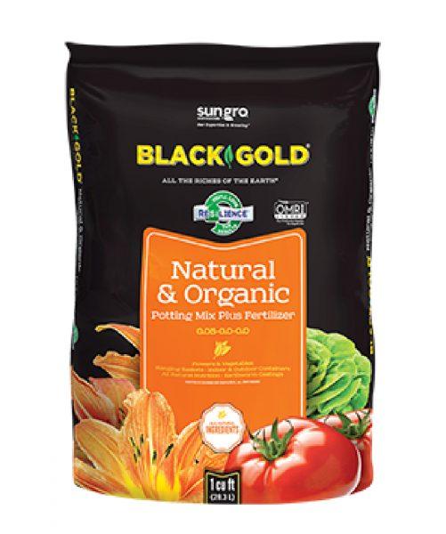Black Gold Natural and Organic Potting Mix plus Fertilizer